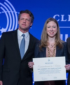 Jim Bryan accepts CGI Commitment from Chelsea Clinton